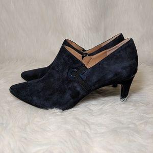 Calvin Klein Shoes - Calvin Klein Joanie Navy Suede Shooties